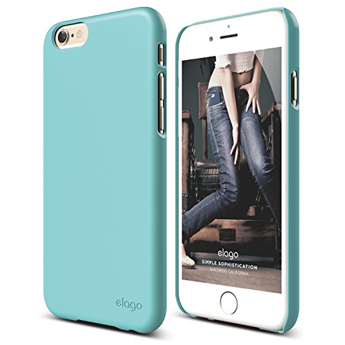 iPhone 6 Case, elago [Slim Fit 2][Coral Blue] - [Light][Minimalistic][True Fit] - for iPhone 6 Only ()