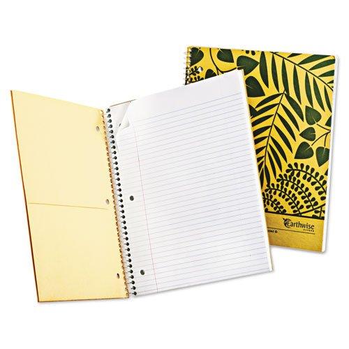 green school supplies notebook