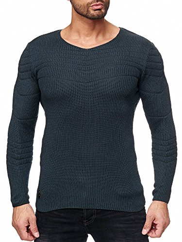 Manches Mode En Pull Basic Sweater Red Hommes Tricot Petroleum Bridge Longues xCnXq8wHt