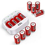 EBL RCR123A Rechargeable Batteries Arlo Batteries (12-Pack) and Fast Battery Charger -Ultra Compatible with Arlo Wireless Security Cameras (VMC3030/3200/3330/3430/3530), ETL Certified