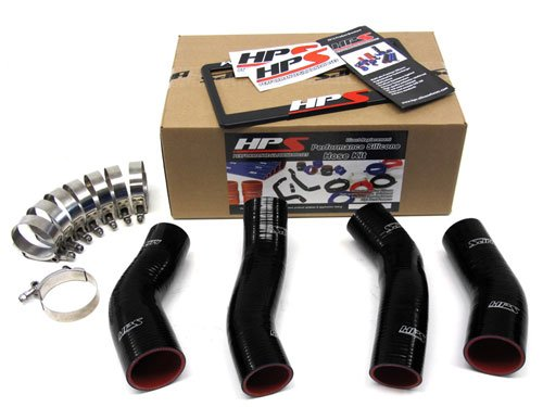 HPS (57-1047-BLK) Black Silicone Intercooler Turbo Hose Kit for Nissan 300ZX Twin Turbo