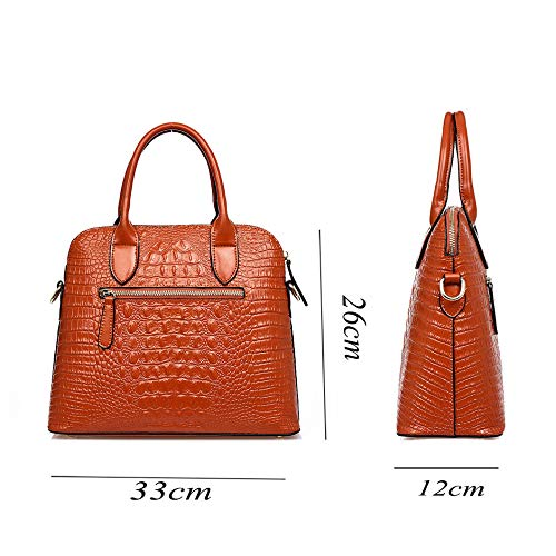 Crocodile Paquet Modèle à Main De De De De Diagonale Cuir Sac Orange De qFqfawS