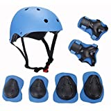 ELESKY Adjustable Sports Protective Gear Set Safety Pad Safeguard (Helmet Kne...
