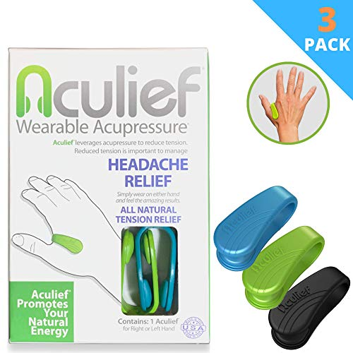Best Price Aculief - Award Winning Natural Headache, Migraine and Tension Relief - Wearable Acupress...