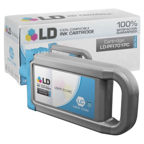 LD Compatible Replacement for Canon PFI-701PC High Yield Photo Cyan Pigment Inkjet Cartridge for use in Canon imagePROGRAF iPF8000, iPF8000s, iPF8100, iPF9000, iPF9000s and iPF9100 (Canon Imageprograf Ipf8100 Photo)