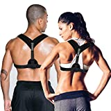 Posture Corrector for Women & Men, Relieves Upper Back & Shoulders Pain, Corrects Slouching, Hunching & Bad Posture, Clavicle Support Adjustable Brace