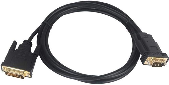 JRXyDfxn DVI A VGA Cable De Alta Resolución del Monitor Masculino ...
