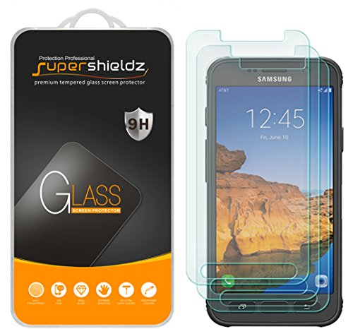 [3-Pack] Supershieldz for Samsung 'Galaxy S7 Active' (Not Fit For Galaxy S7 Model) Tempered Glass Screen Protector, Anti-Scratch, Anti-Fingerprint, Bubble Free, Lifetime Replacement Warranty