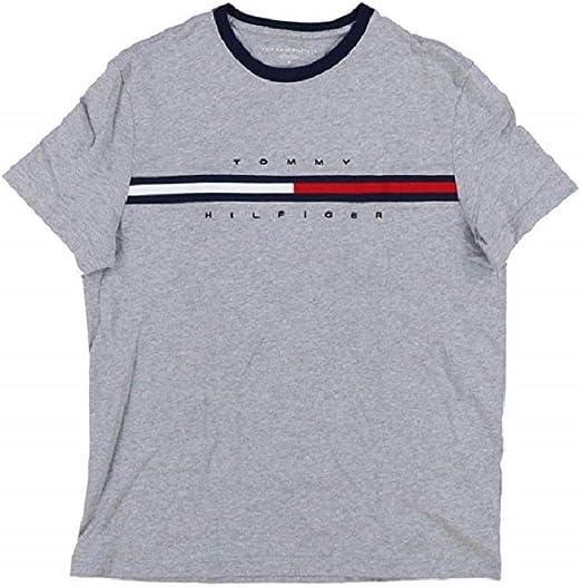 Tommy Hilfiger Camiseta Clásica Logo Big Line para Hombre: Amazon ...