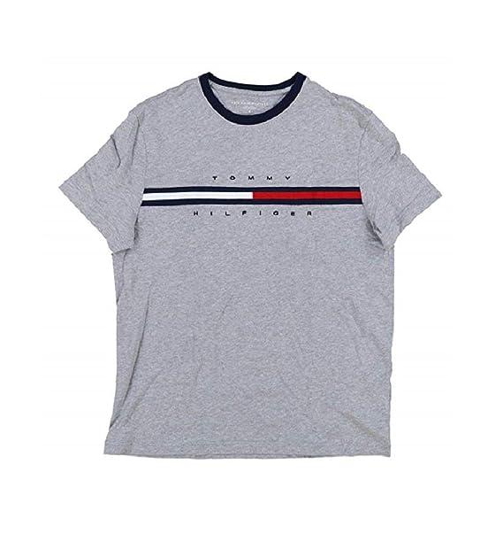 838e07b80f Tommy Hilfiger T-Shirt da Uomo con Logo Classico Grande: Amazon.it ...