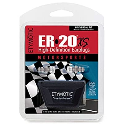 Etymotic Research ER20XS Motorsport High-Definition Earplugs (Noise Reduction Designed To Fit Under Helmets) - Standard, Clear Stem w/ Frost Tip: Electronics