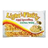 Light 'n Fluffy Extra Wide Egg Noodles 12 oz (Pack of 12)