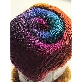 "Alpaca Active""Molten Jewels"" – Acrylic Alpaca Wool, Fine Sport Weight Yarn, 100 Gram"