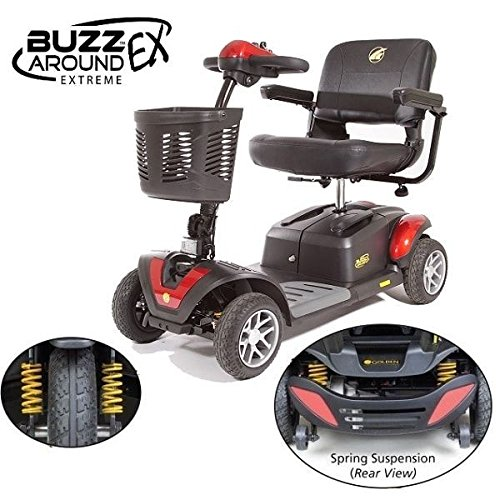 Golden Technologies - Buzzaround Ex - Travel Scooter - 4-Wheel - Red
