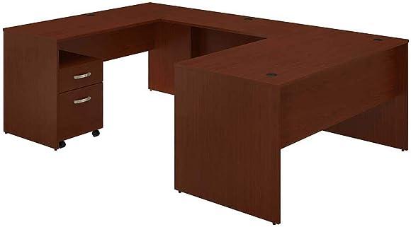 Bush Furniture Commerce 60W U Shaped Desk