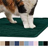 GORILLA GRIP Original Premium Durable Cat Litter Mat, 35x23, XL Jumbo, No Phthalate, Water Resistant, Traps Litter from Cat Box Scatter Control, Soft on Kitty Paws, Easy Clean Mats, Hunter Green