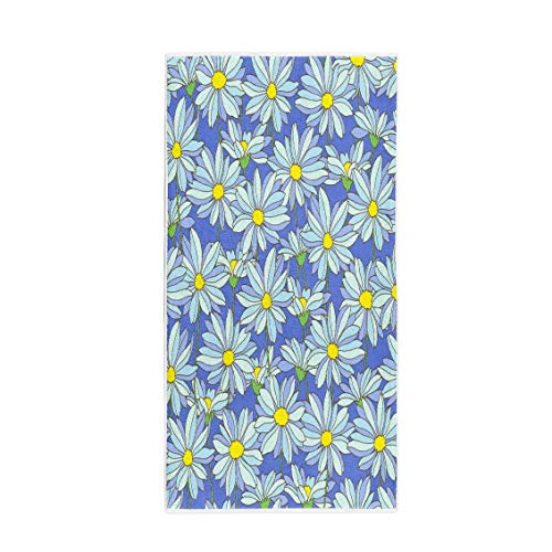 (Semtomn 30 x 60 Inches Bath Towel Abstract Flower Pattern Blossom Botanical Casual Continue Cute Floral Soft Absorbent Travel Guest Decor Hand Towels Washcloth for Bathroom(One Side Printing))