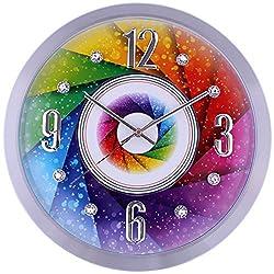 SMC 16-inch Diamond Infinity - Round Wall Clock, Unique Decorative Clock, Metal Frame