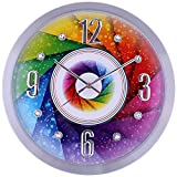 SMC 16-inch Diamond Infinity - Round Wall Clock, Unique Decorative Clock, Metal Frame