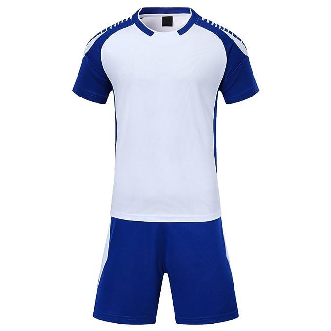 f32e0d6879b780 KINDOYO Maglietta da Calcio a Maniche Corte per Uomo e Bambino,  Pantaloncini da Calcio,