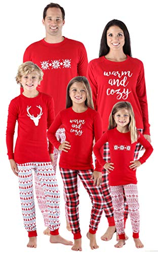 SleepytimePjs Family Matching Sleepwear Knit Holiday Mix and Match Pajamas PJs Collection(STM-3037-M-2135-XL) -