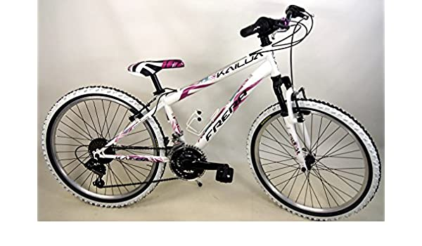 Frera Bicicleta Mountain Bike MTB niña/Niña 24 18 V color blanco ...