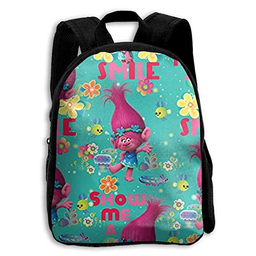 Trolls Poppy Beautiful Premium Durable Waterproof Backpacks For Kids From,School Bag For Boys, Girls, Pre-School, Kindergarten, Traveling, Hiking, Camping, And Outdoor Daypack -