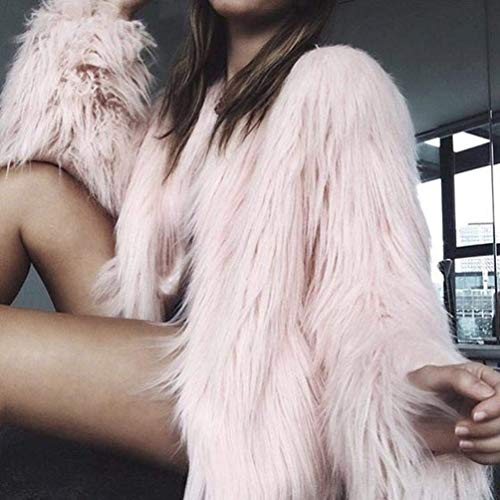 Autunno Invernali Donna Casuale Donne Similpelle Corto B Lunga Battercake rosa Manica Giacche Fashion Pelliccia Eleganti Outwear Casual In Sintetica Ragazze Giacca Cappotto EqvwffIX