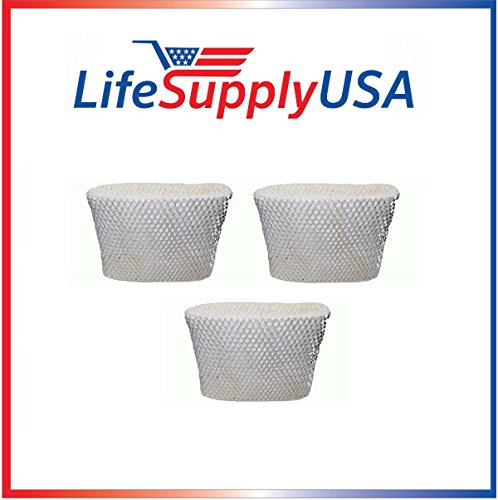 LifeSupplyUSA 3PK Replacement Humidifier Wick Filter C for H