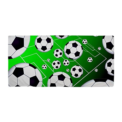 Beach Towel Modern Soccer Field Design 30 x 60 Inches Machine Washable, Perfect for College Dorm, Pools, Gyms, Beaches, Locker Rooms, Bathroom Shower Wrap, Beach Wrap, Bath Wrap, Spa Wrap (Skin Soccer Life)