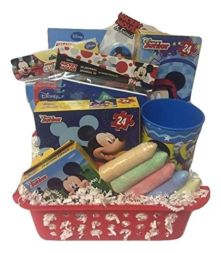 Disney Mickey Mouse Gift Basket, Perfect for 3-8 Years Old