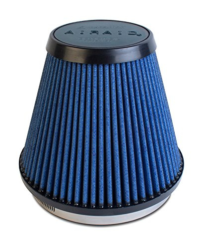 Airaid 703-466 Universal Clamp-On Air Filter: Round Tapered; 6 in (152 mm) Flange ID; 6 in (152 mm) Height; 7.5 in (191 mm) Base; 3.875 in (98 mm) Top