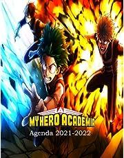 Agenda My Hero Academia 2021 2022: agenda scolaire 2021 2022 ado avec calendrier | agenda 2021 2022 semainier a4 | planner agenda scolaire grand format adapter pour college et élèves