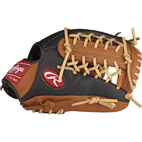 Rawlings P115GBMT-0/3 Prodigy Youth Baseball Glove, Right Hand, Modified Trap-Eze Web, 11-1/2 - Glove Leather Infield