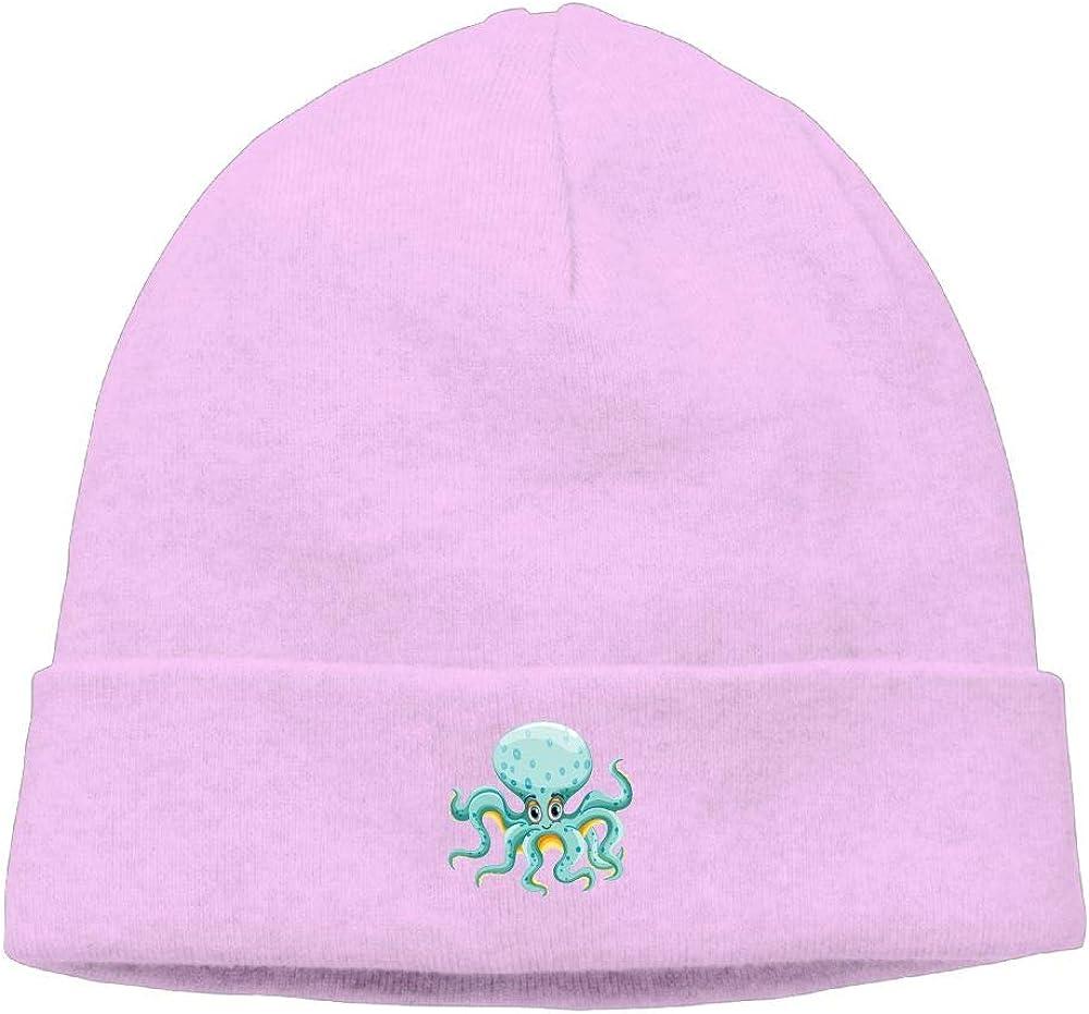 nordic runes Cartoon Octopus Beanie Hat Winter Warm Knit Skull Cap for Mens//Womens