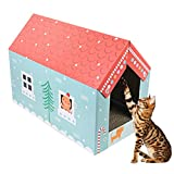 midsummer Scratcher Toy House-shaped Corrugated Cardboard Cat Scratchers Satisfy your kitty's Natural Scratching Instinct Save your Furniture