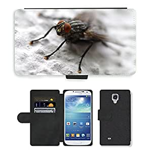 Super Stella Cell Phone Card Slot PU Leather Wallet Case // M00104671 Fly Insect Whopper Close Compound // Samsung Galaxy S4 S IV SIV i9500