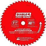 Diablo 7-1/4 in. x 48 TPI Cermet Steel Demon Ferrous Metal Cutting Saw Blade