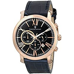 Christian Van Sant Men's CV8323 Mister Analog Display Quartz Blue Watch
