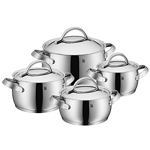 Wmf concento 8 pc cookware set silver kitchen for 8 pc kitchen set