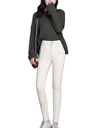 834a60e2731e09 GladiolusA Women Winter Thick Warm Faux Fleece Lined Thermal Stretchy  Leggings Pantsslim Trousers: Amazon.co.uk: Clothing