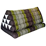 Relaxation cushion XXL with attached mini-mattress - traditional thai pattern - pure cotton stuffed with kapok, HANDMADE - direct importing from Thailand (81816)