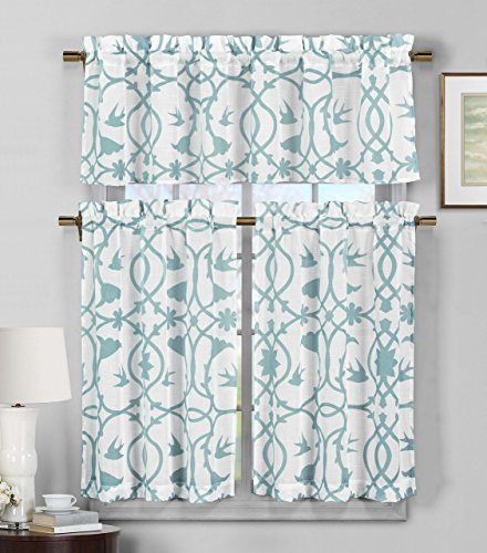 Kitchen Curtains Teal