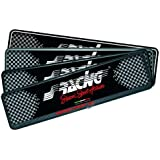 Simoni Racing PTX/4AN Portatarga Anteriore Soft Touch, Nero
