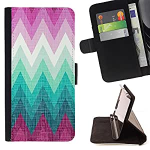 Jordan Colourful Shop - Pink Teal Shape Pattern Lines For Apple Iphone 5C - Leather Case Absorci???¡¯???€????€?????????&At