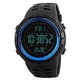 Watches Men's Digital Sport Watch Electronic LED Fashion Brand Waterproof Outdoor Casual Blue Watch
