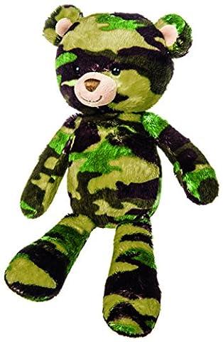 Mary Meyer Green Camo Bear Plush Toy, 11-Inch (Rugged Bear Plush)