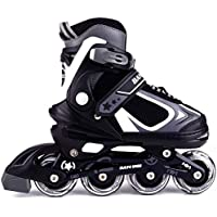 MammyGol Adjustable Inline Skates for Kids,Girls Boys with Light up Wheels