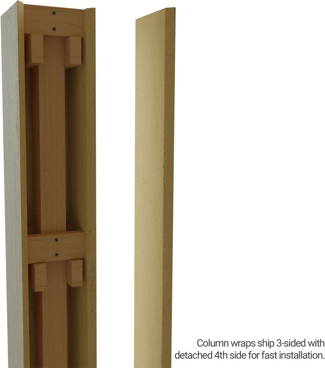 Amazon Com Ekena Millwork Colurs06x072stuf Rough Sawn Endurathane Faux Wood Non Tapered Square Column Wrap 6 W X 6 H Unfinished Home Improvement