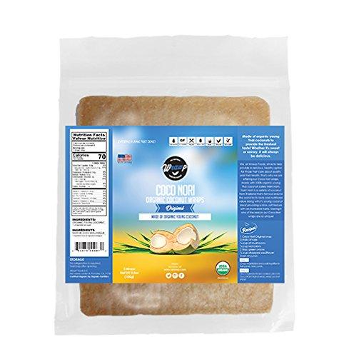 Organic Coconut Wraps, Coco Nori Original (Raw, Vegan, Paleo, Gluten Free wraps) Made from young Thai (Wrap Tortilla)